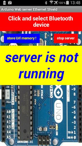 Arduino server Ethernet Shield