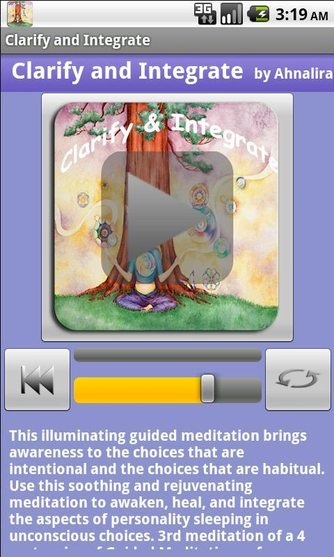 Clarify & Integrate Meditation- screenshot