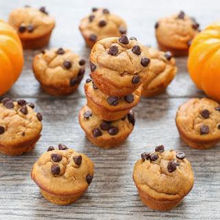 Mini Flourless Peanut Butter Pumpkin Muffins.