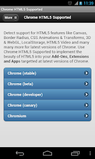Chrome HTML5 Supported? - screenshot thumbnail