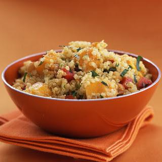 Quinoa with Mango and Curried Yogurt.