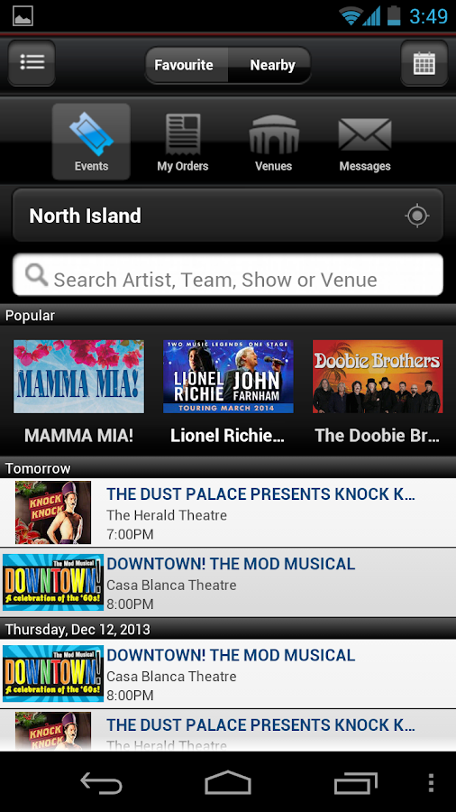Ticketmaster NZ - screenshot