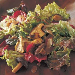 Roasted Mushroom and Shallot Salad with Balsamic Vinaigrette.