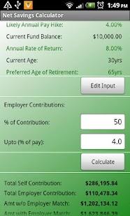 Retirement Planner- screenshot thumbnail