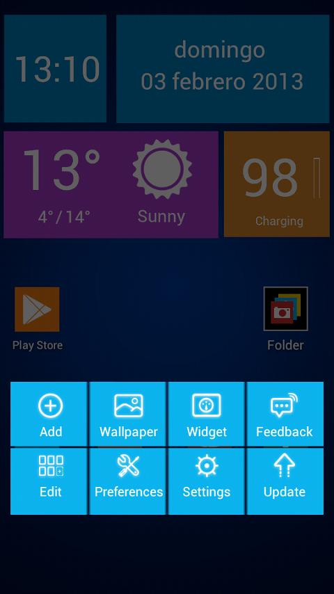 Next Launcher Theme WinTiles 8 - screenshot