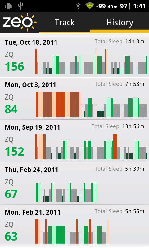 Zeo Sleep Manager - screenshot