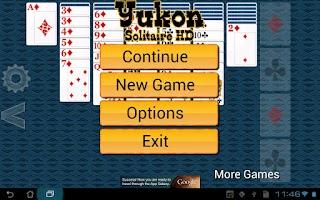Screenshot of Yukon Solitaire HD
