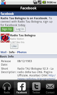 Radio TAU 92.3 Bologna- screenshot thumbnail