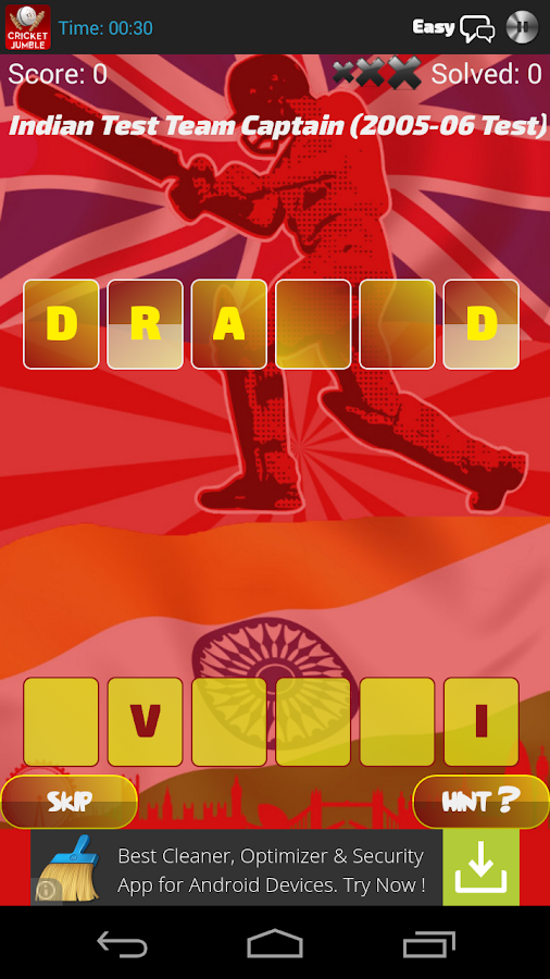 Word Jumble Cricket Players - screenshot