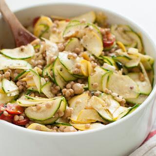 Mediterranean Raw Squash Pasta Salad.