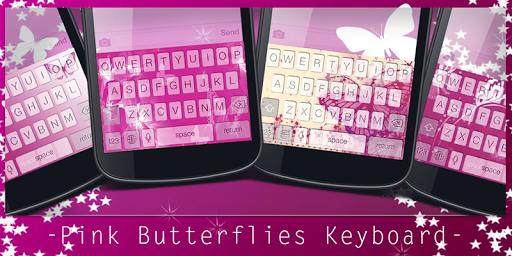 Pink Butterflie Keyboard Theme