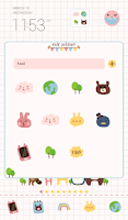 Screenshot of chic animals dodol theme