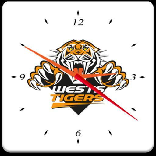 West Tigers Analog Clock 運動 App LOGO-硬是要APP