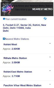 NEAREST METRO screenshot 1