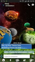 Screenshot of GO SMS Theme Cosmos