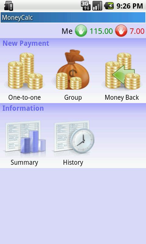MoneyCalc – zrzut ekranu