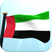 UAE Flag 3D Free Wallpaper