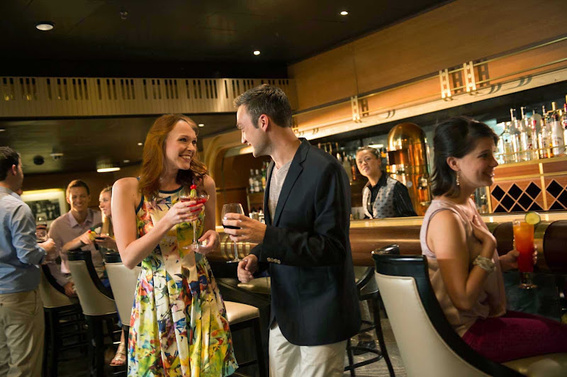 Grab a cocktail, meet new people and listen to live music at Keys, an elegant adults-only piano bar and lounge with an art deco motif on deck 3 of Disney Magic.