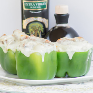 Philly Cheesesteak Stuffed Peppers #FORTHECUP