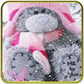 teddy bear under the snowy lwp