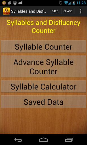Syllable Disfluency Counter