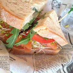 Salmon on Udi's GF bread -- wow!