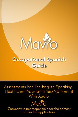 Occupational Therapy Spanish- screenshot
