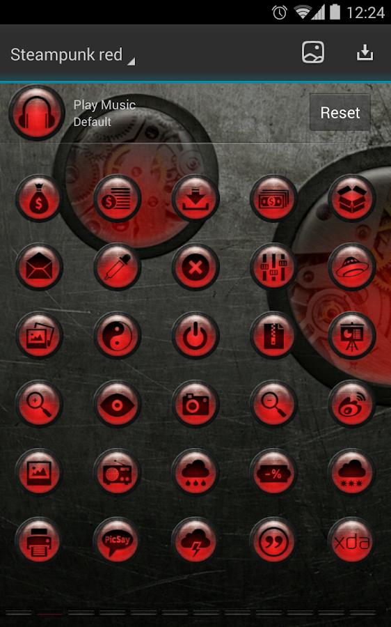 Next Launcher Theme SteampunkR - screenshot