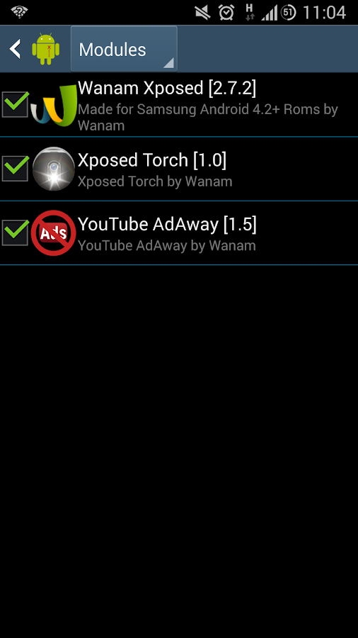 Xposed Torch: Physical Buttons - screenshot