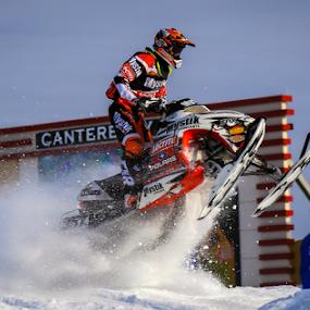 Snow Dust by Kenton Knutson - Sports & Fitness Motorsports ( snocross, jumping, snowmobile, racing, snow, mystik, snocross racing,  )
