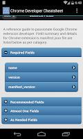 Screenshot of Chrome Developer Cheatsheet