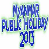 Myanmar Public Holiday 2013