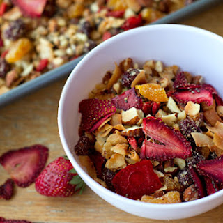 Paleo Granola With Oven-dried Strawberries.