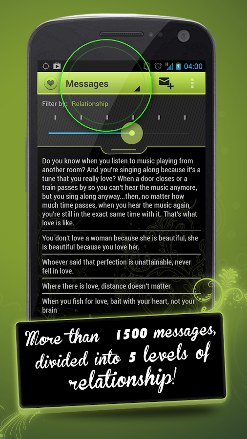 Love by Messages in English - screenshot