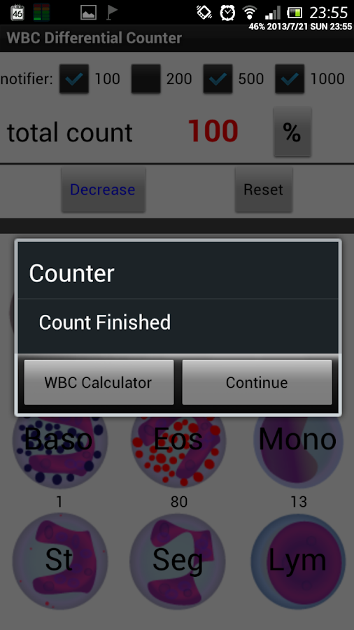 WBC Counter - screenshot