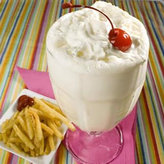 Fountain-Style Vanilla Malt Shake.