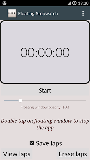 Floating stopwatch