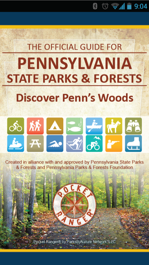 PA State Parks Guide- screenshot