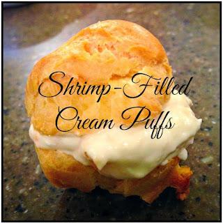 Shrimp-Filled Cream Puffs.