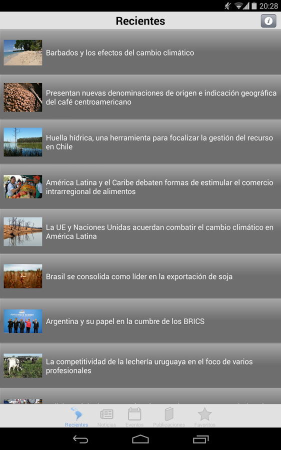 Agronoticias FAO- screenshot