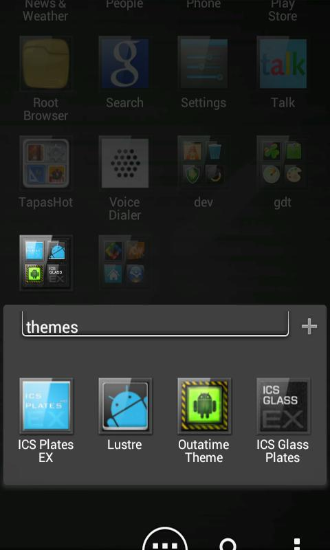ADW APEX GO - ICS Glass Theme- screenshot