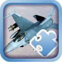 Fancy Jigsaw Military airplane icon