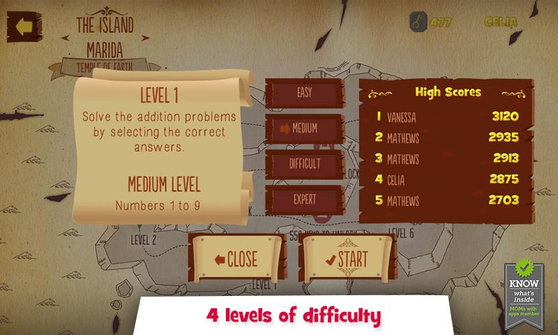 Addition & Subtraction- screenshot