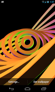3D Hypnotic Spiral Rings PRO screenshot 0