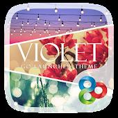 Violet GO Launcher Theme