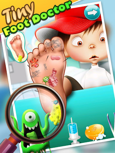小型フットドクター - 子供のゲーム