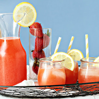 Homemade Strawberry Lemonade.