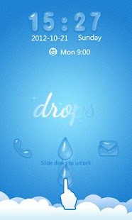 S-SlidingDrops GO Locker Theme - screenshot thumbnail
