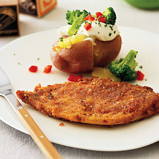 Whole Wheat-Crusted Chicken Breast Cutlets.
