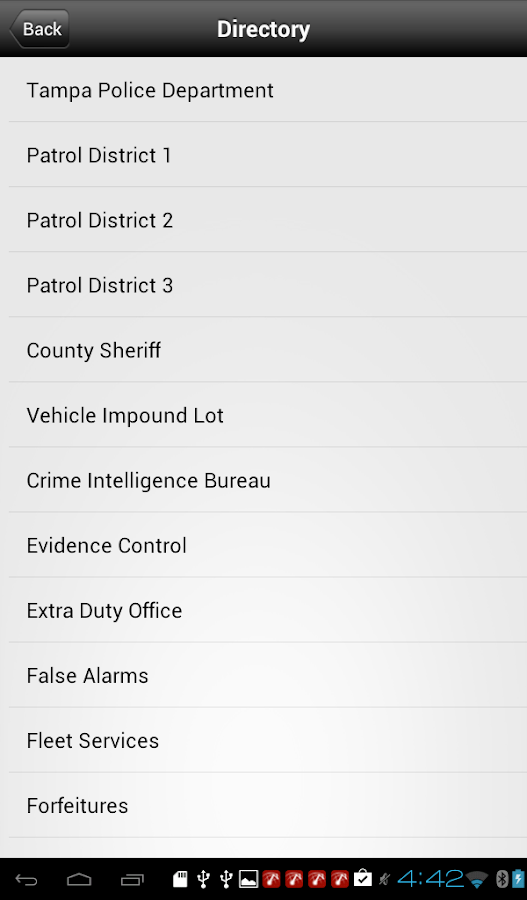TampaPD Mobile - screenshot